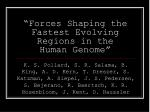 forces shaping the fastest evolving regions in the human genome