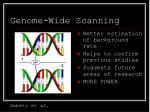 genome wide scanning