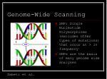 genome wide scanning48