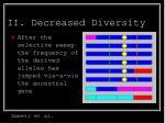 ii decreased diversity28