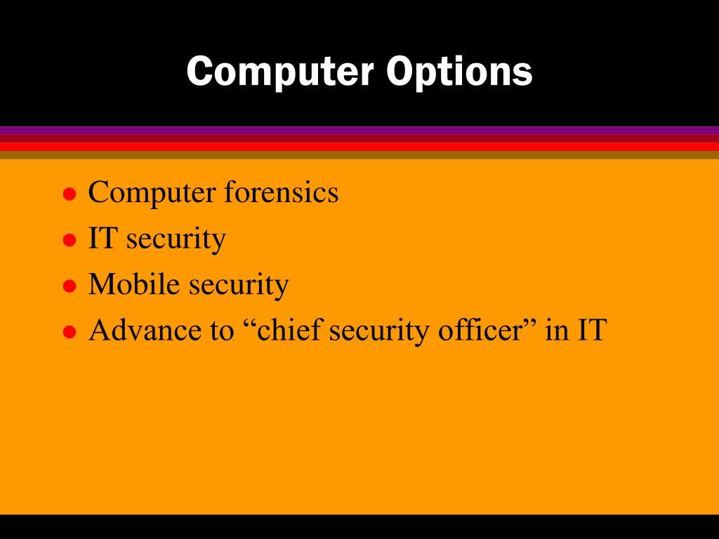 Computer Options