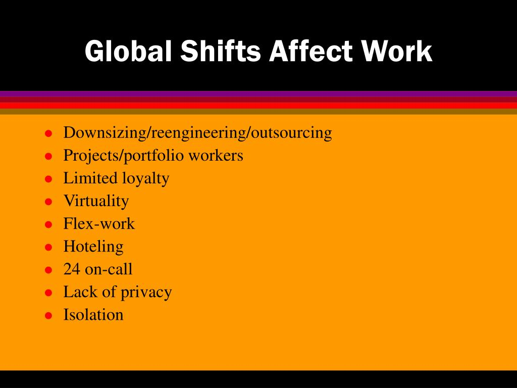 Global Shifts Affect Work
