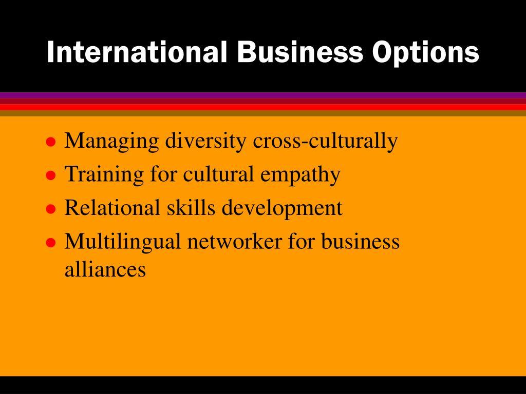 International Business Options