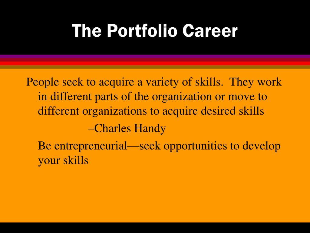 The Portfolio Career