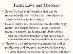facts laws and theories