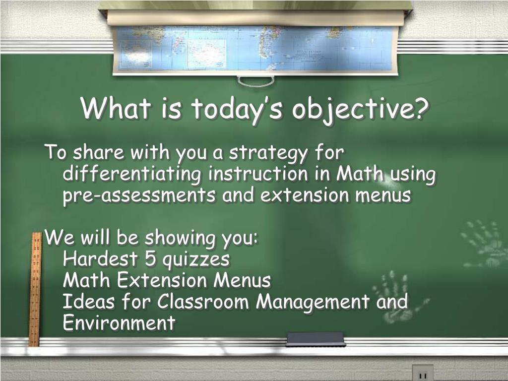 What is today's objective?