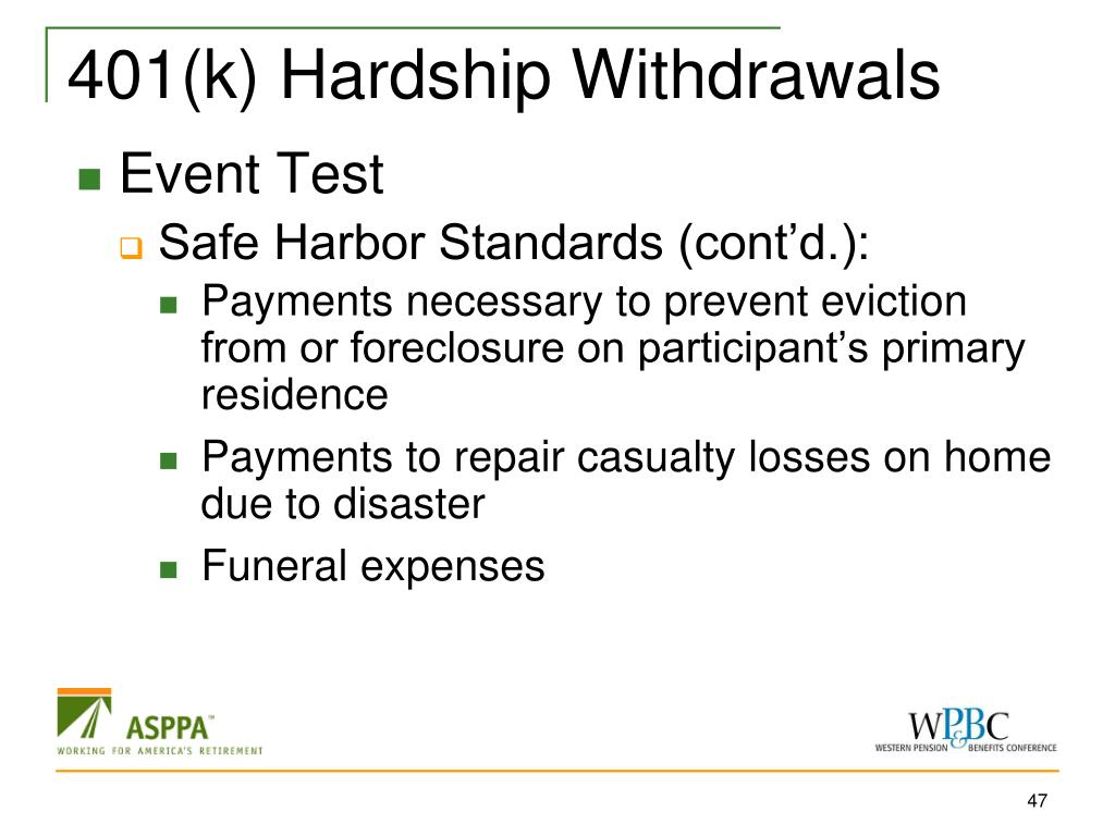 401(k) Hardship Withdrawals