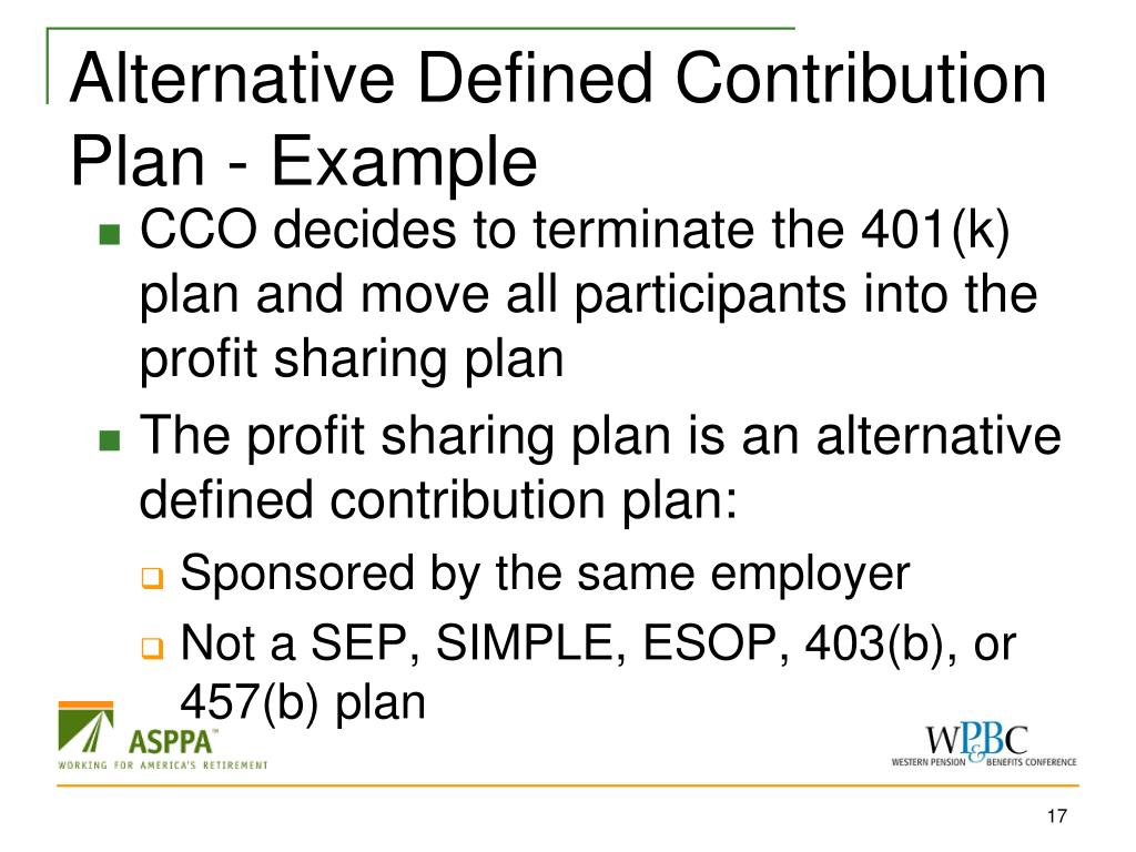 Alternative Defined Contribution Plan - Example