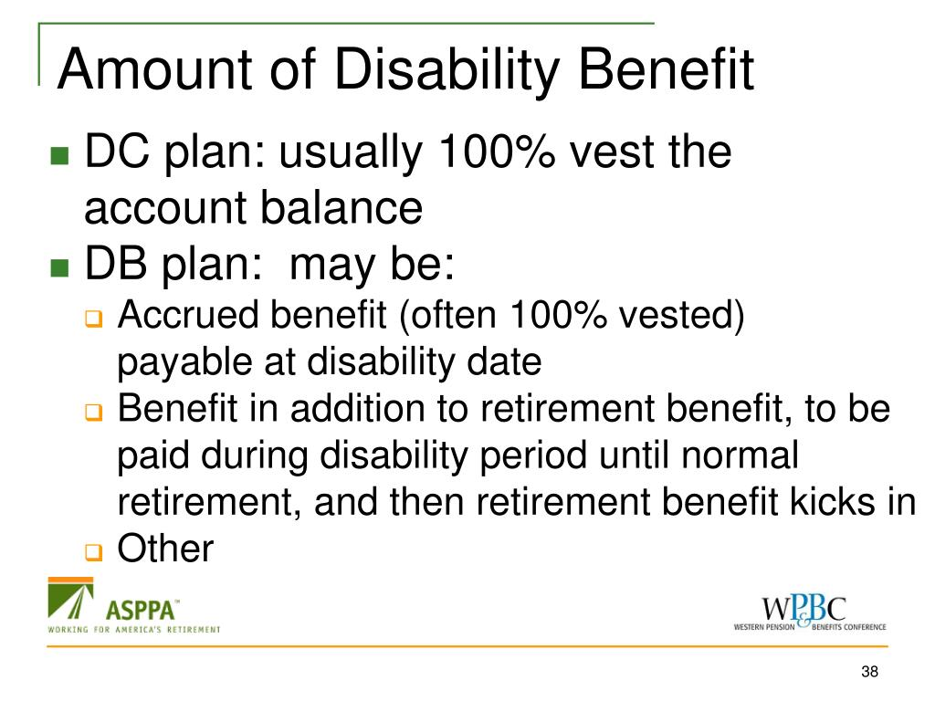 Amount of Disability Benefit