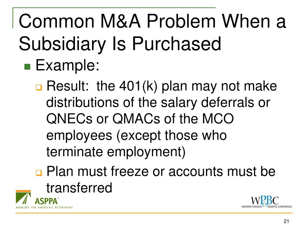 Common M&A Problem When a Subsidiary Is Purchased