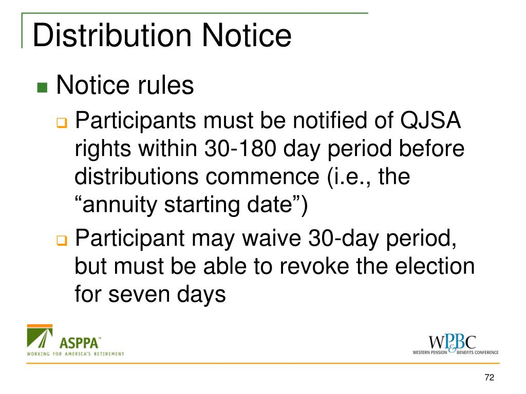 Distribution Notice