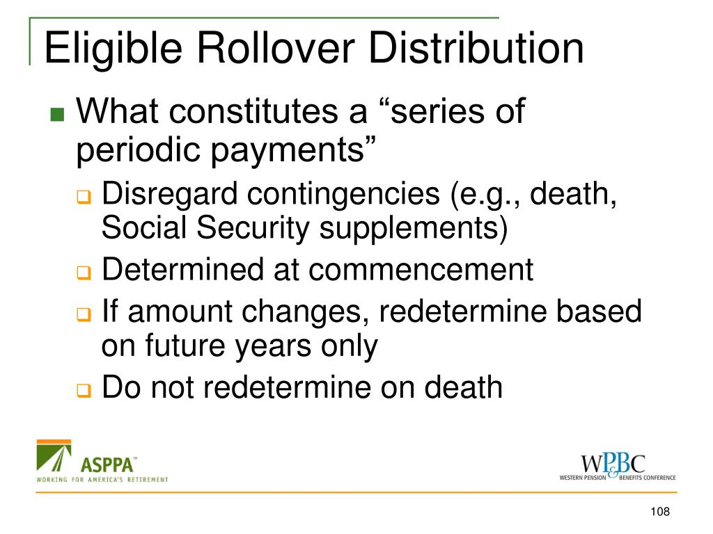 Eligible Rollover Distribution