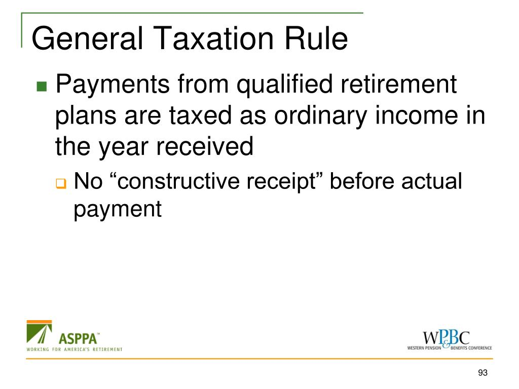 General Taxation Rule