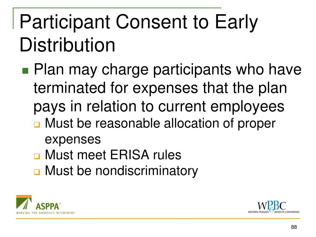 Participant Consent to Early Distribution