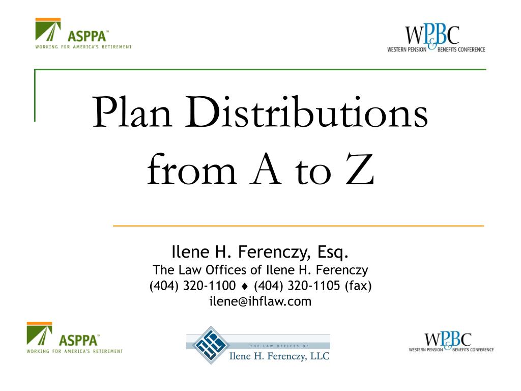 Plan Distributions