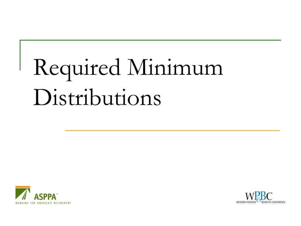 Required Minimum