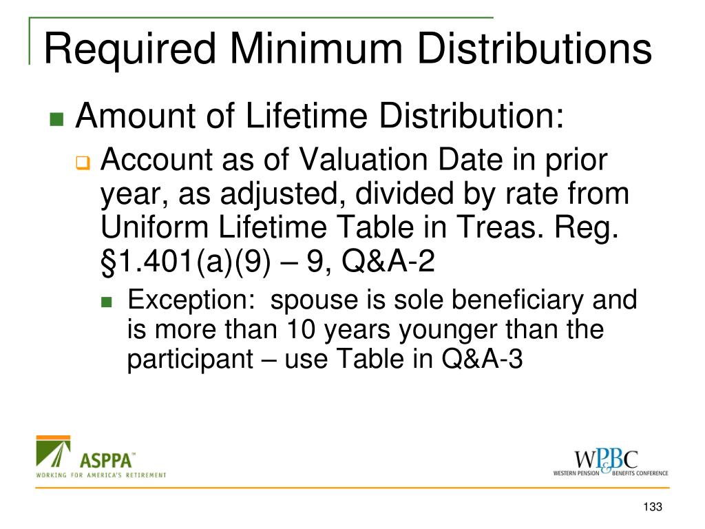 Required Minimum Distributions