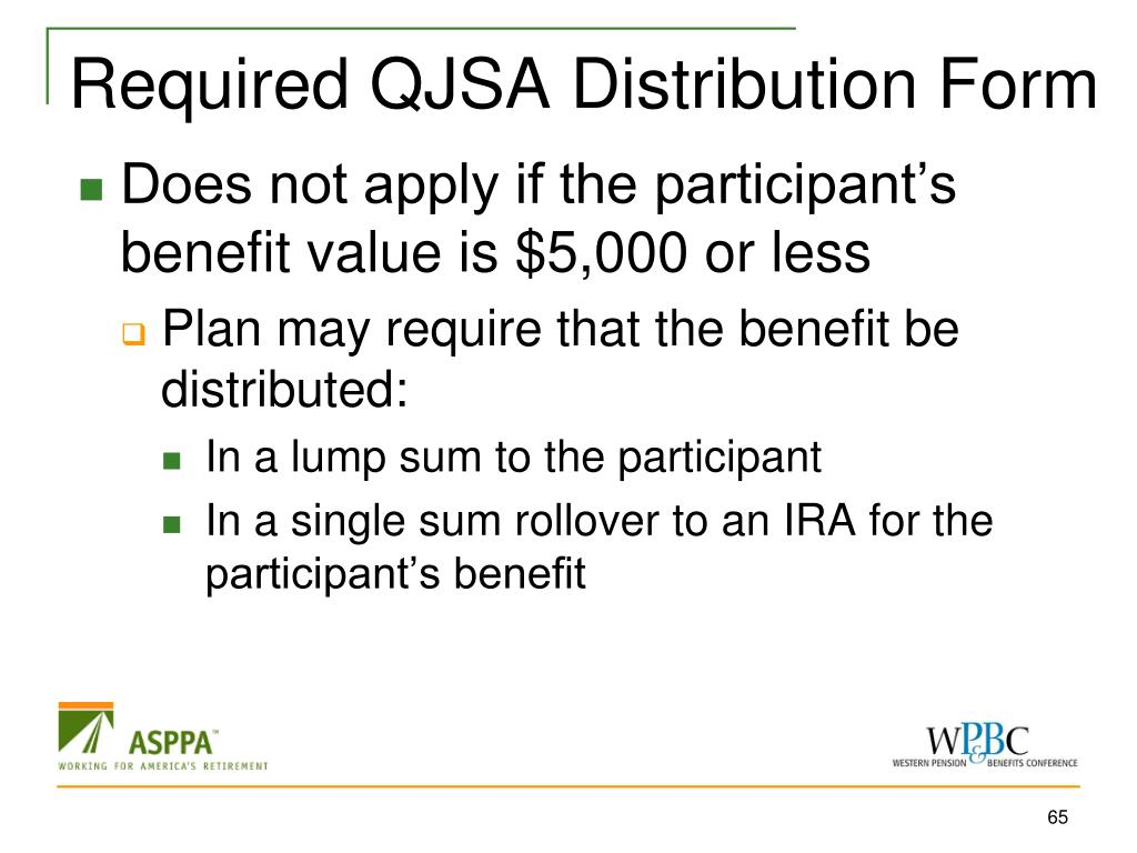Required QJSA Distribution Form