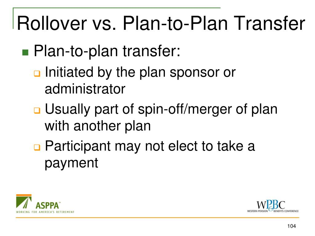 Rollover vs. Plan-to-Plan Transfer
