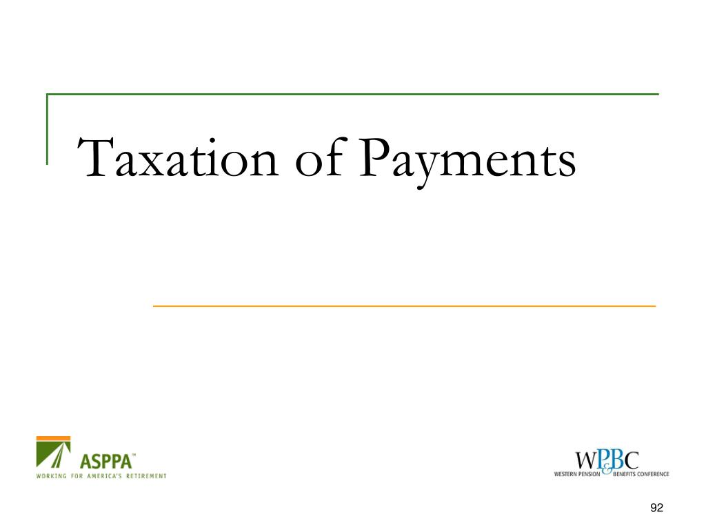 Taxation of Payments