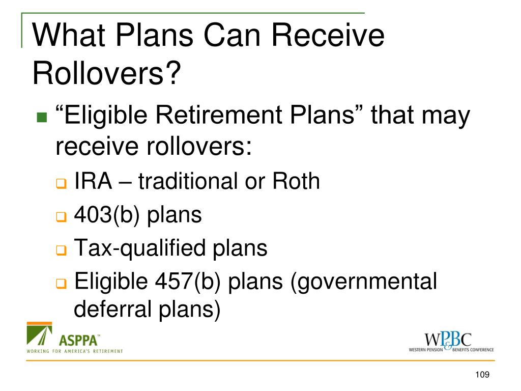 What Plans Can Receive Rollovers?