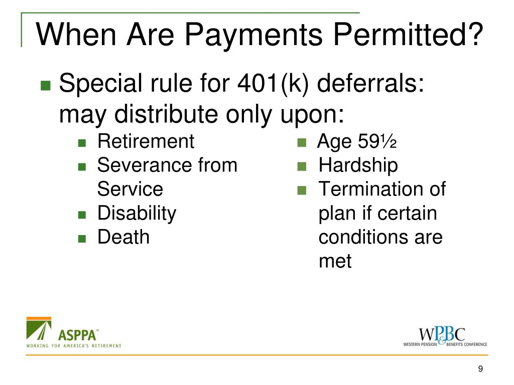 When Are Payments Permitted?