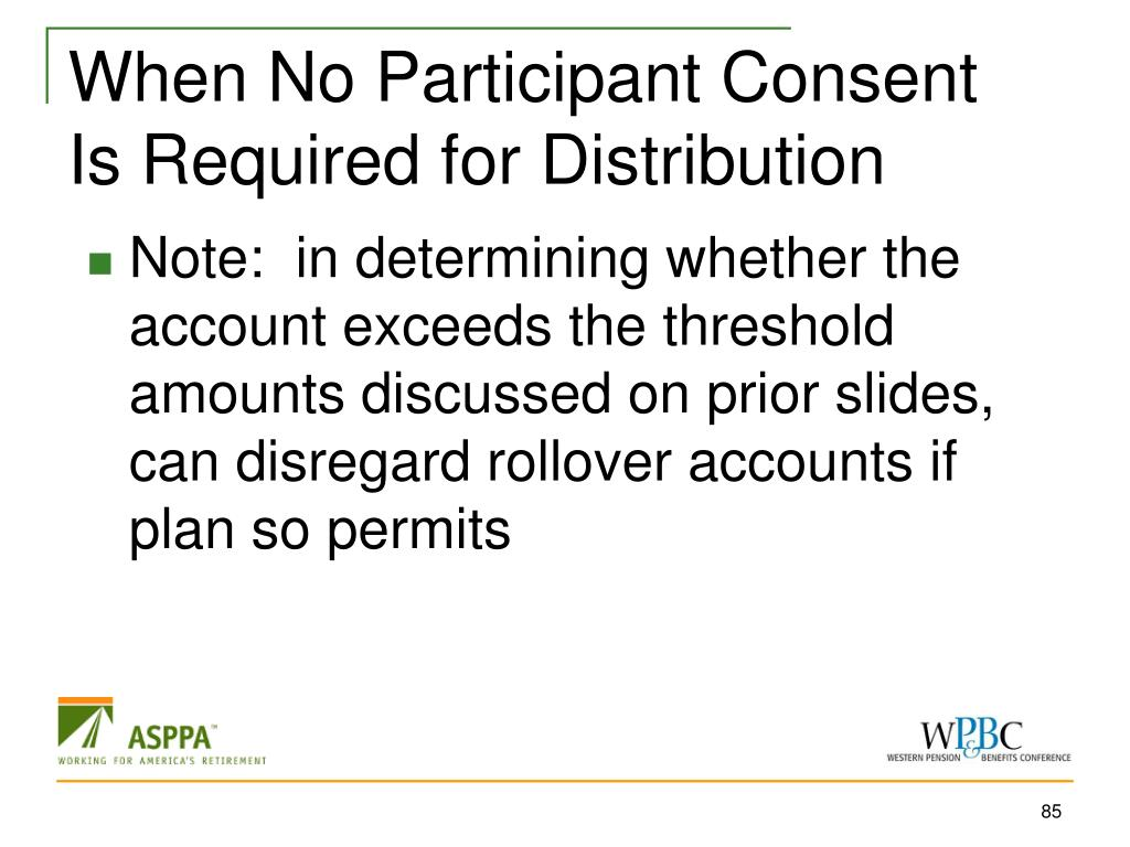 When No Participant Consent Is Required for Distribution