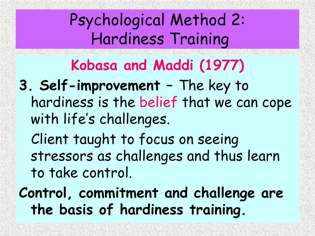 Psychological Method 2: