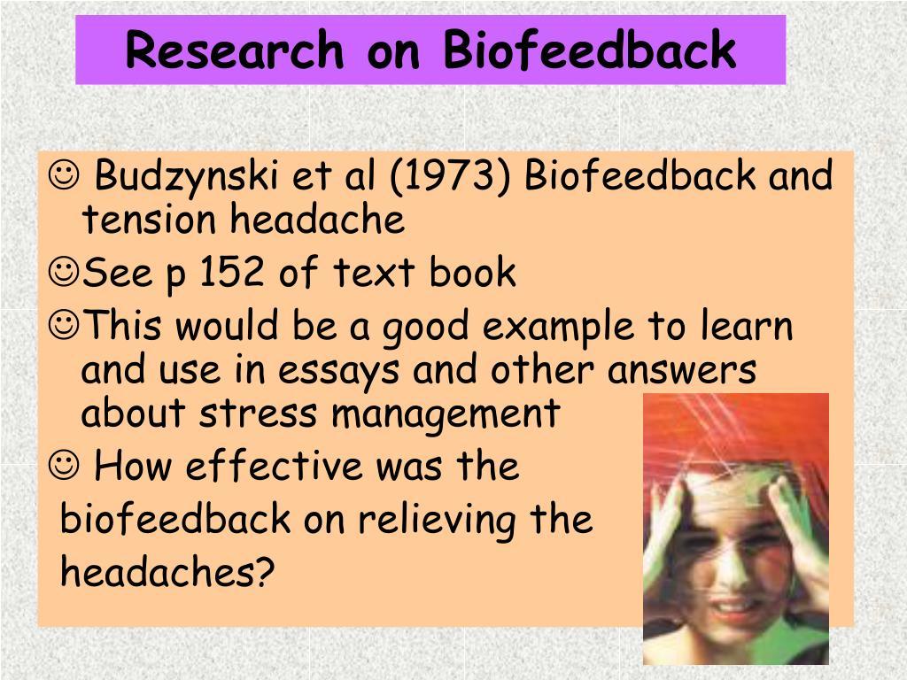 Research on Biofeedback