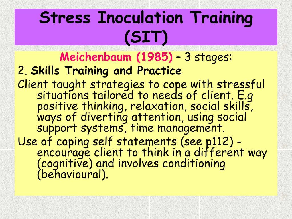 Stress Inoculation Training (SIT)