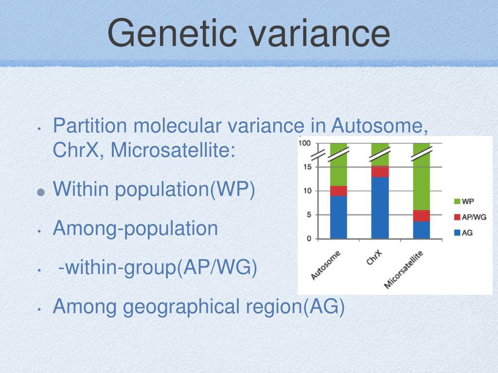 Genetic variance