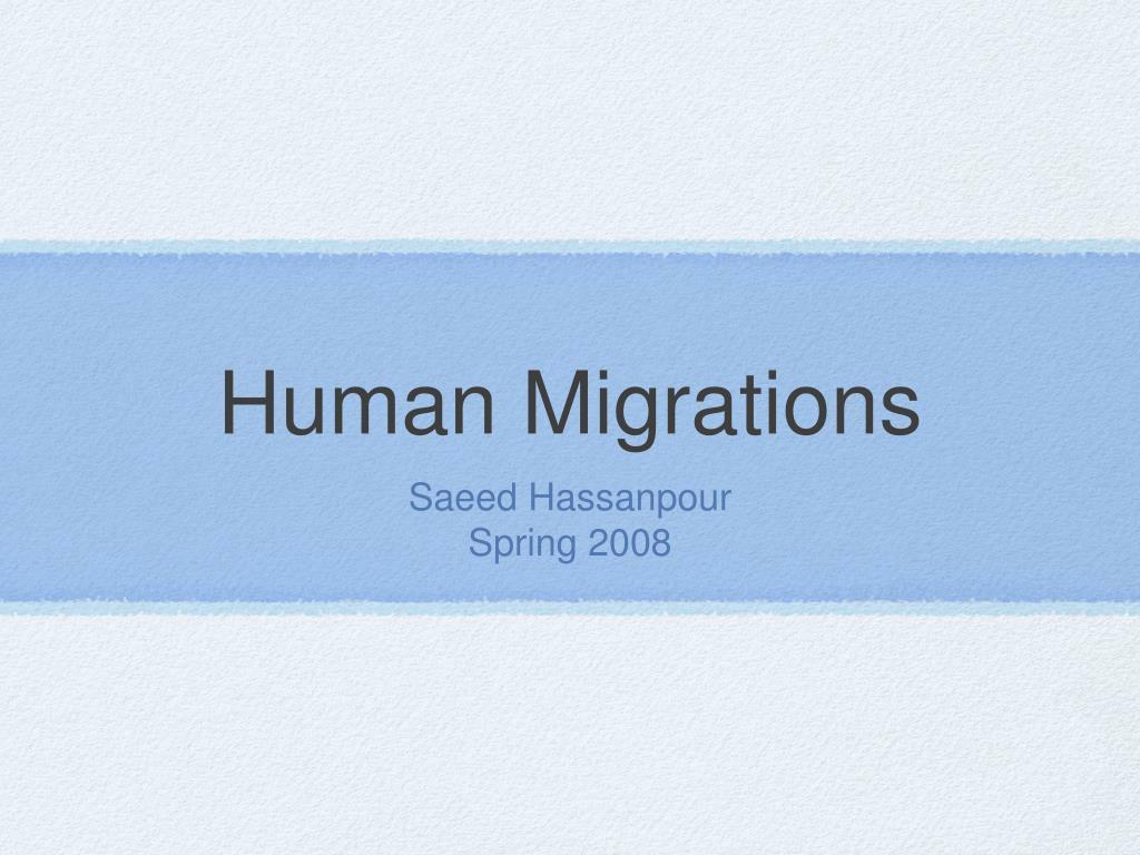 human migrations l.