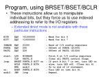 program using brset bset bclr