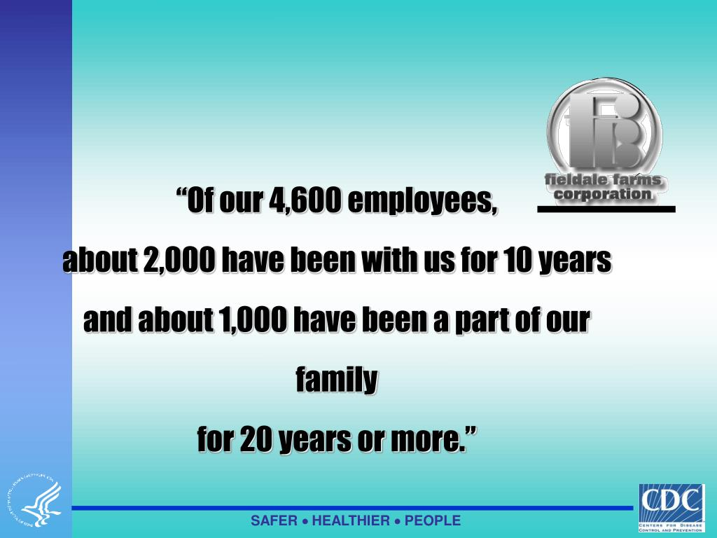 """Of our 4,600 employees,"