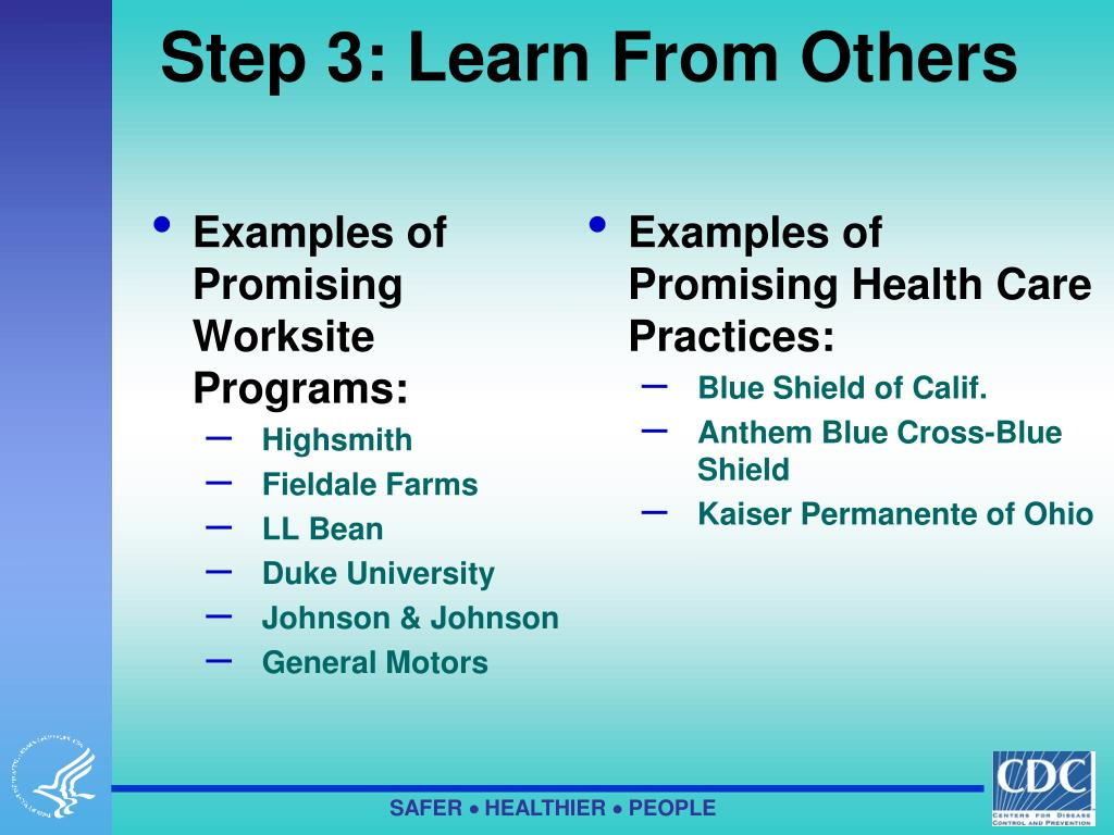 Examples of Promising Worksite Programs: