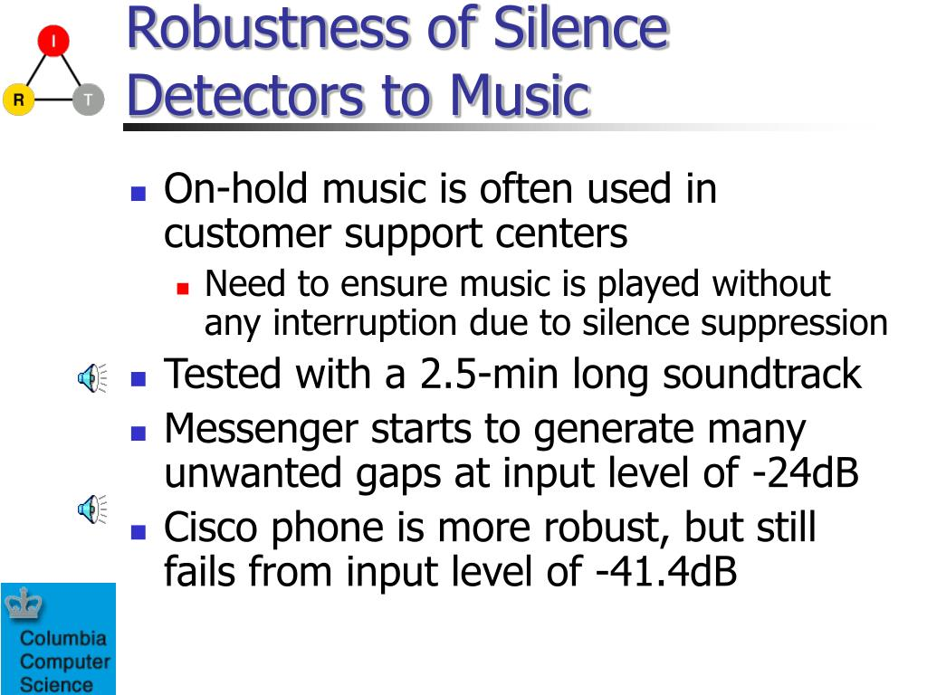 Robustness of Silence Detectors to Music