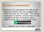 barriers to motivation