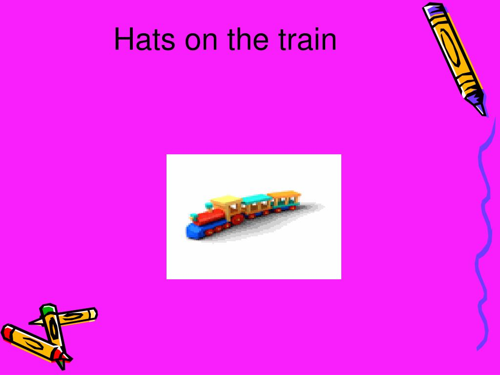 Hats on the train