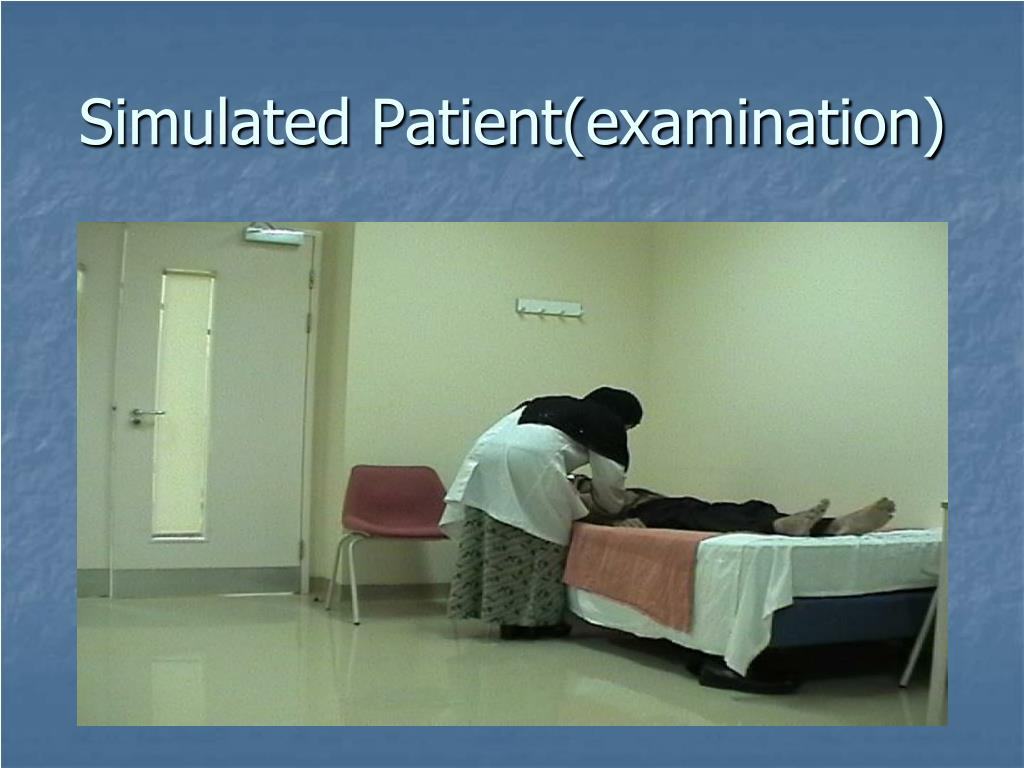 Simulated Patient(examination)