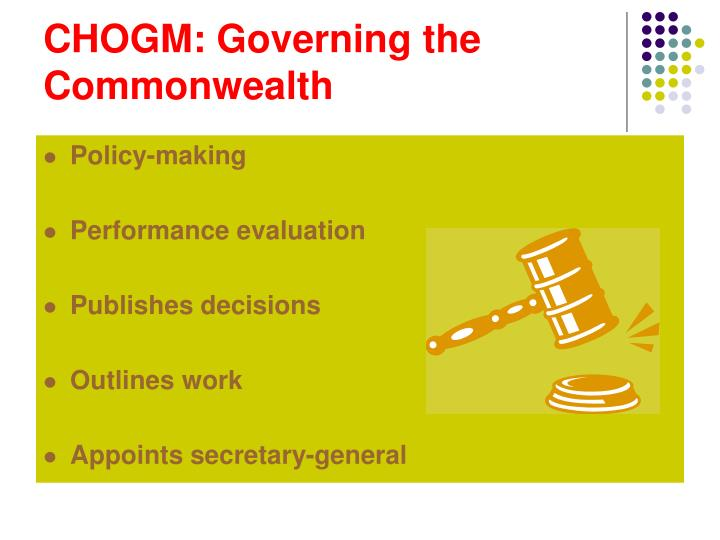 CHOGM: Governing the Commonwealth