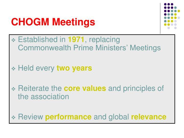 CHOGM Meetings