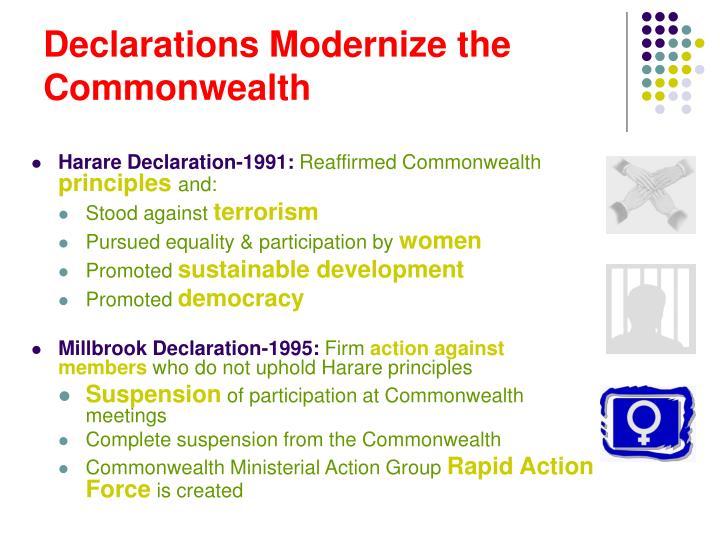 Declarations Modernize the