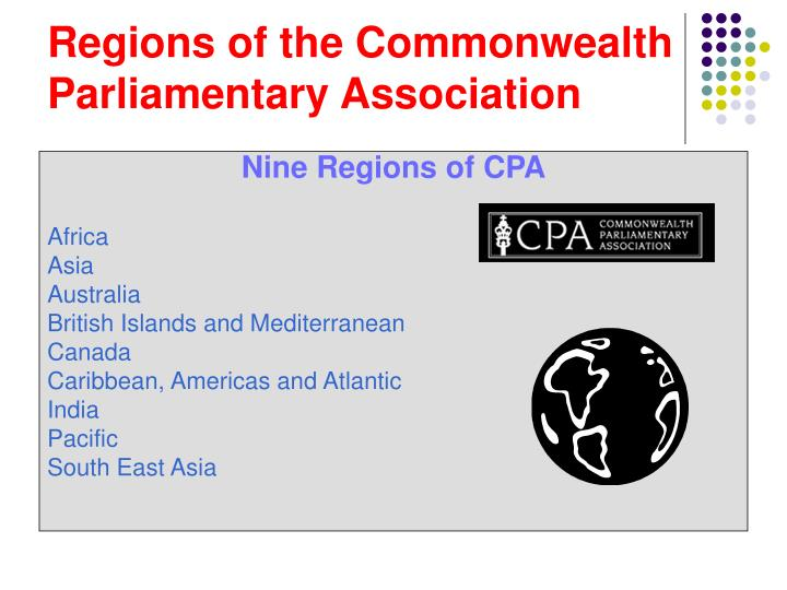 Regions of the Commonwealth Parliamentary Association