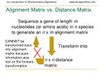 alignment matrix vs distance matrix