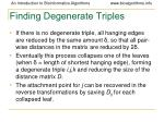 finding degenerate triples