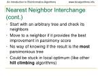 nearest neighbor interchange cont92