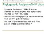 phylogenetic analysis of hiv virus