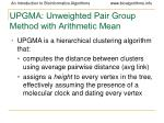 upgma unweighted pair group method with arithmetic mean