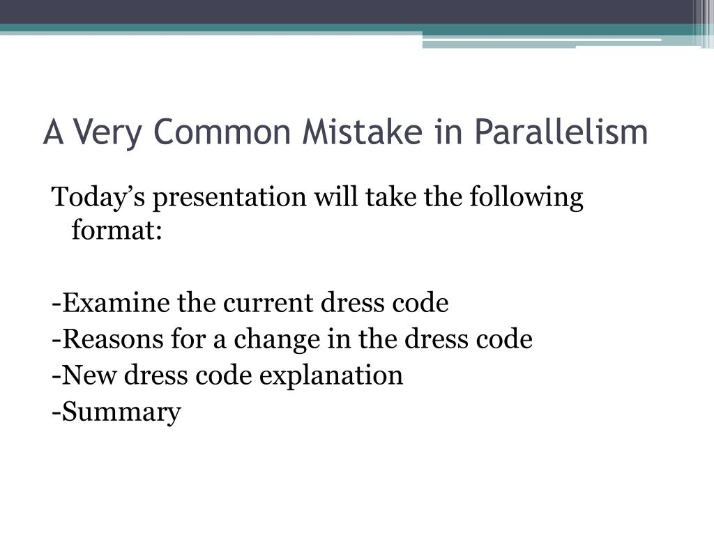 A Very Common Mistake in Parallelism