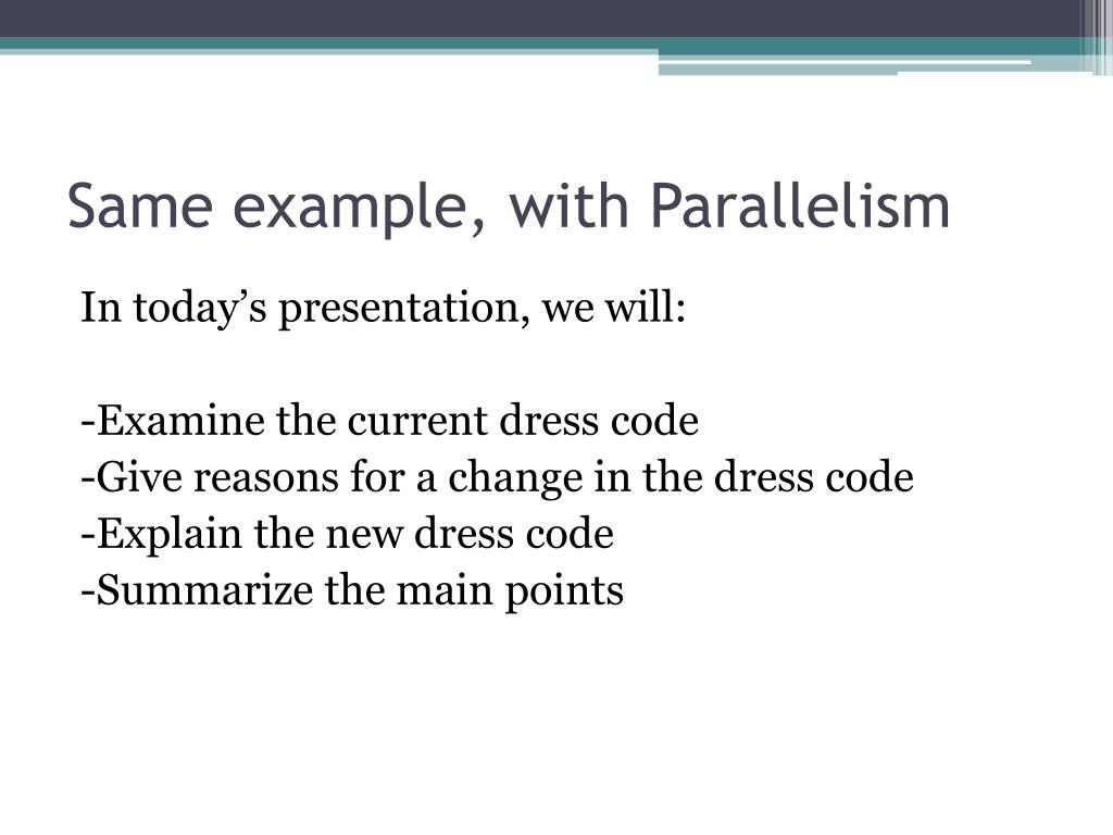 Same example, with Parallelism